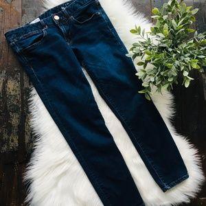 GAP ALWAYS SKINNY Dark Wash Jeans Stretch 6 28 EUC